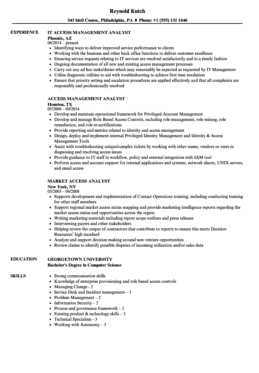 resume management information systems