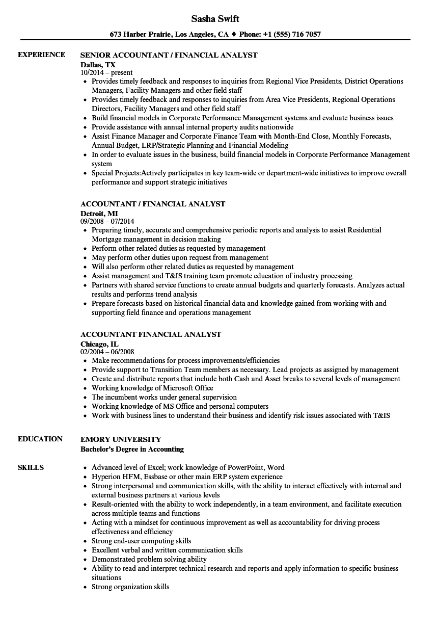sample analyst resume objectives