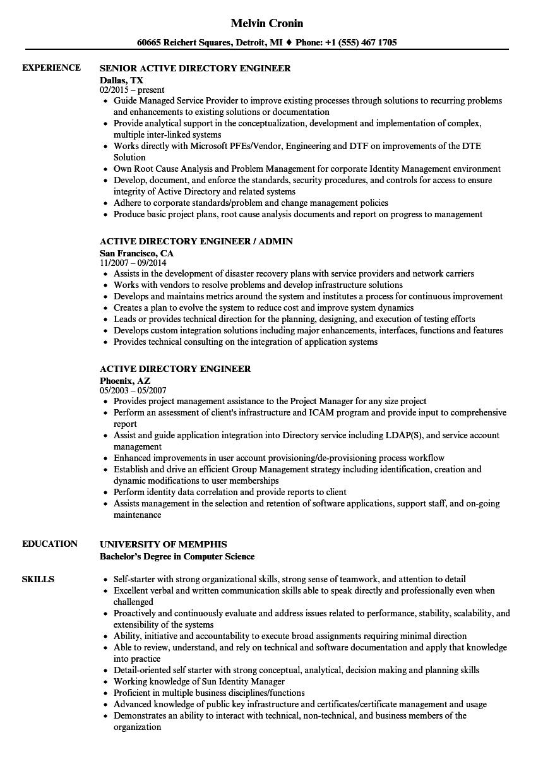 reliability engineer resume sample