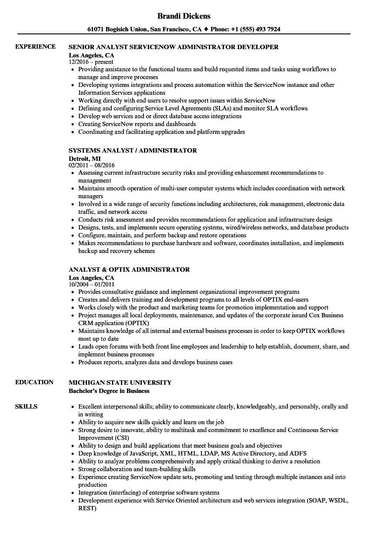 Administrator Analyst Resume Samples Velvet Jobs