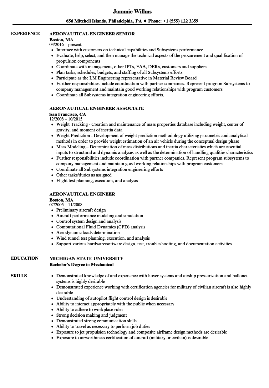 embry riddle resume template