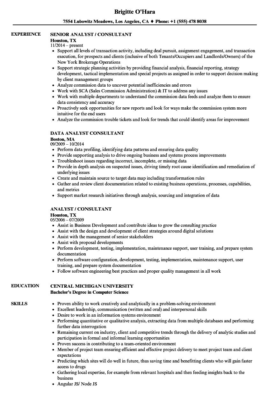solution consultant sample resume