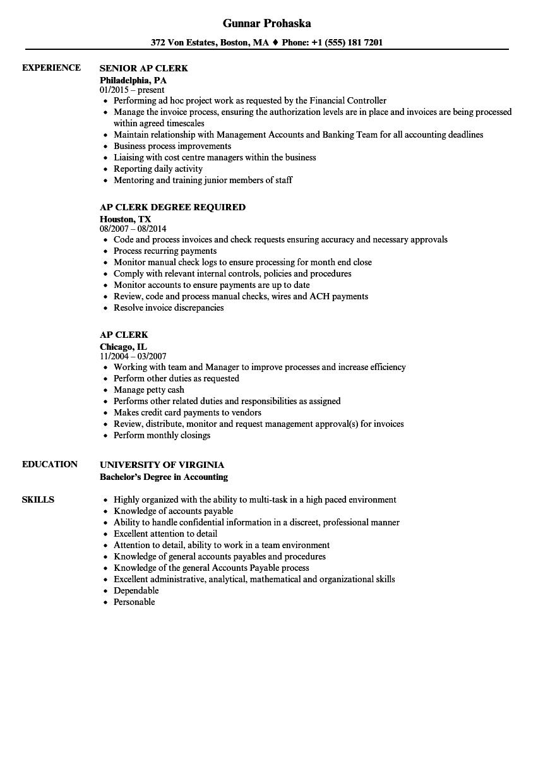 ap resume samples