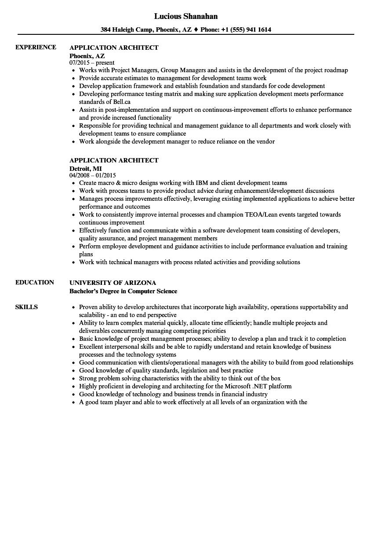 integration architect resume sample