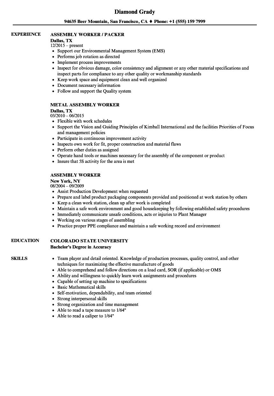 sample resume for kitchen worker