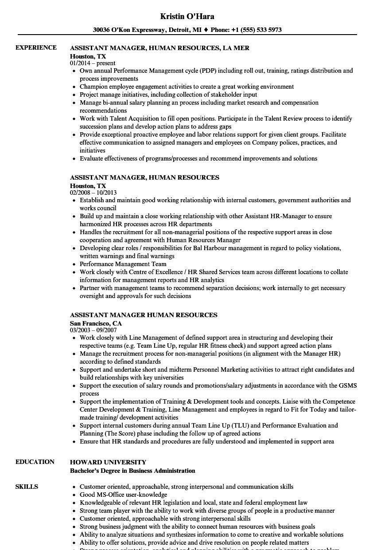 human resource management resume sample