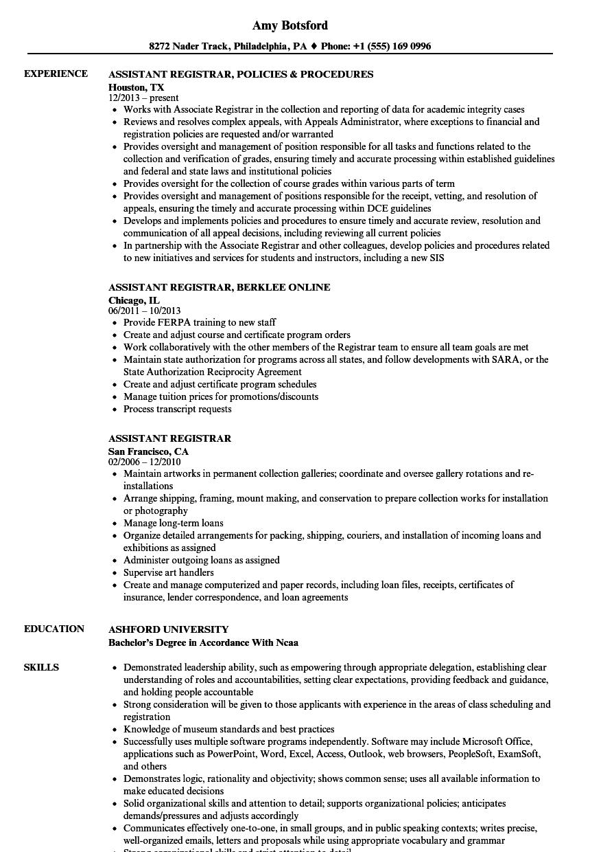 medical registrar resume example