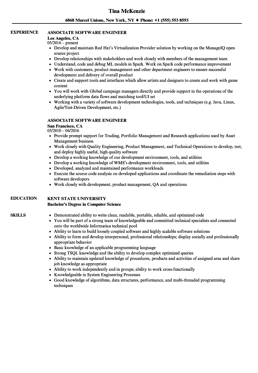 sample resume for software engineer with 2 years experience download