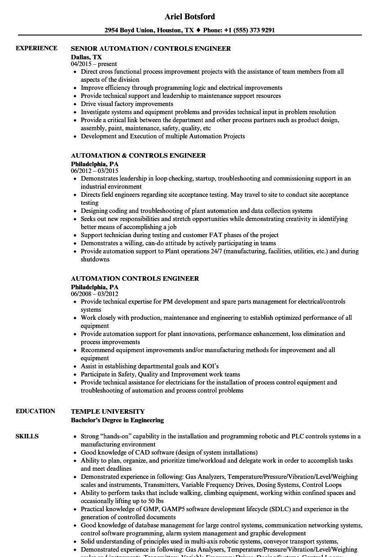 plc developer resume sample