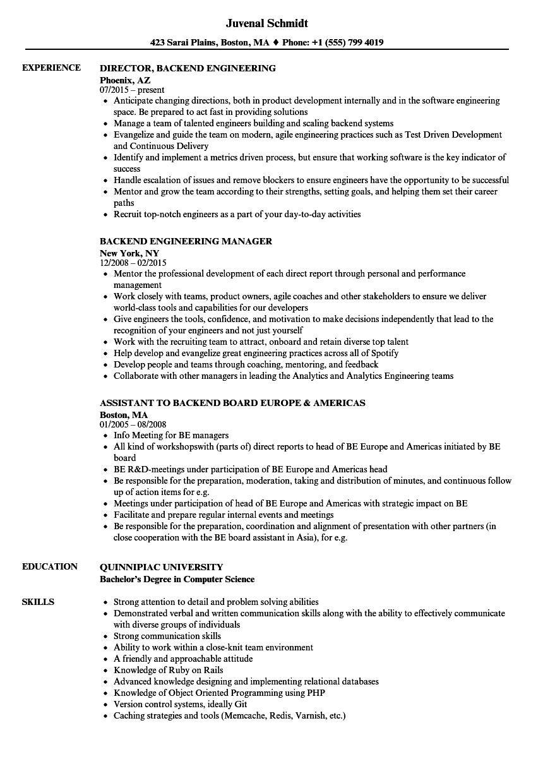 Backend Resume Samples | Velvet Jobs