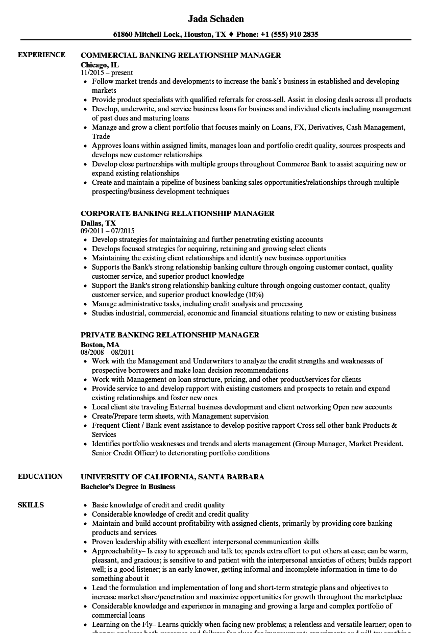 relationship manager resume sample india