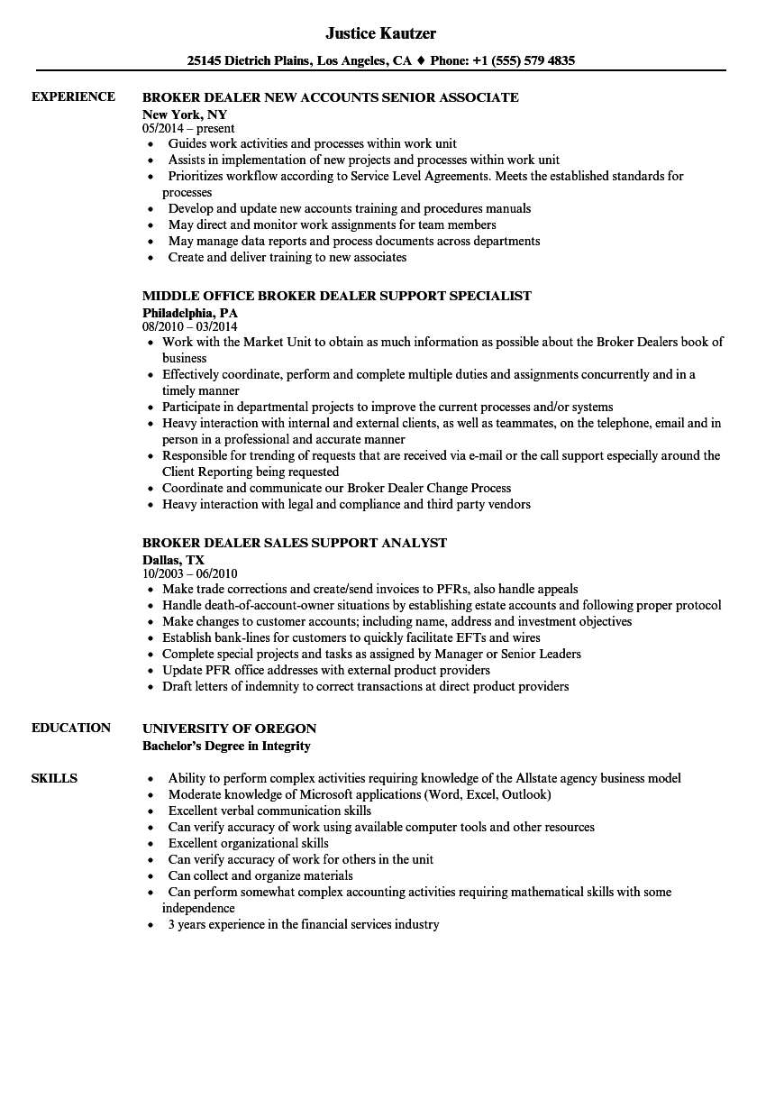 sample resume freight broker