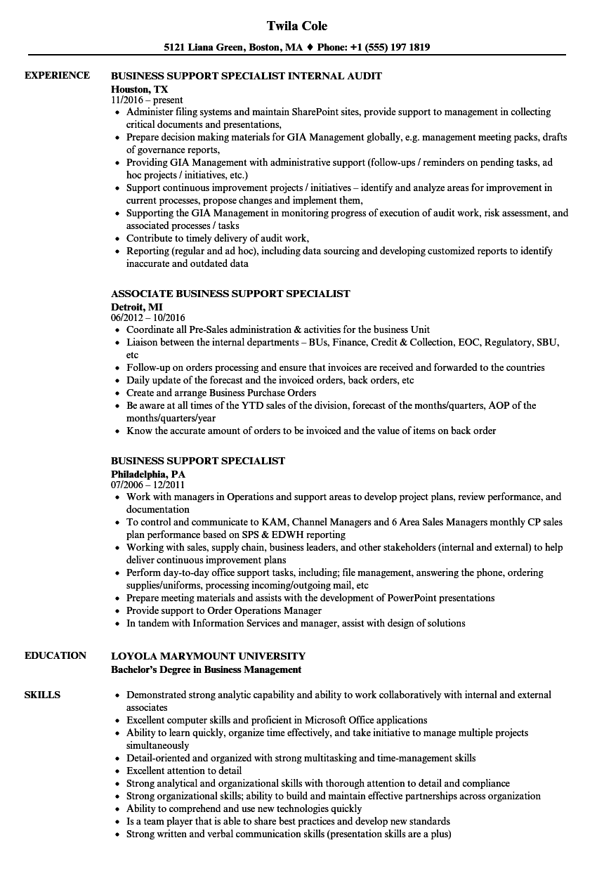 resume sample for program research specialist