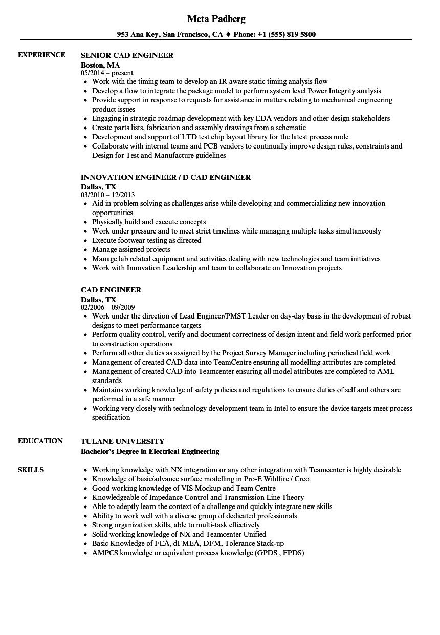 fabrication engineer resume sample