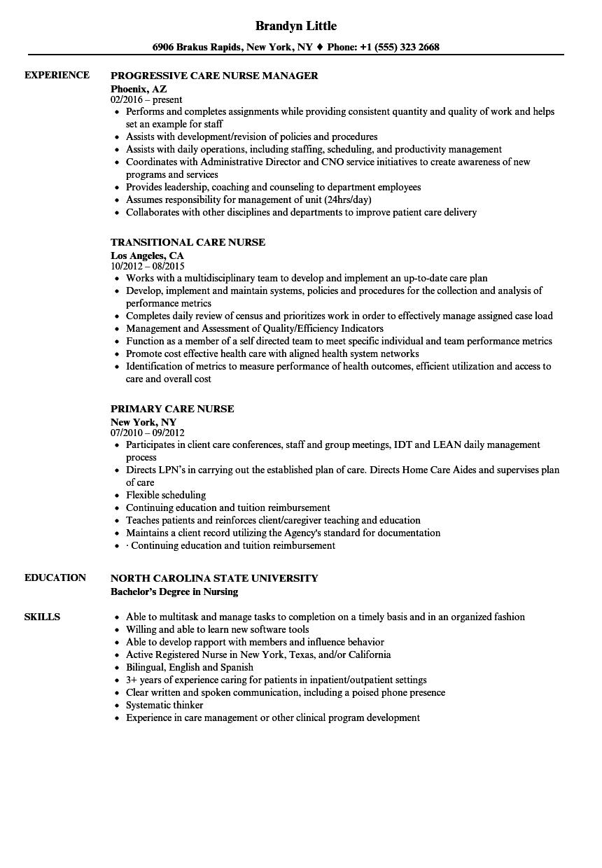 Download Care Nurse Resume Sample As Image File