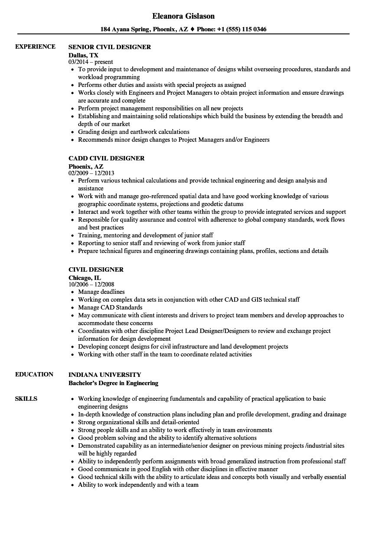 resume designer examples
