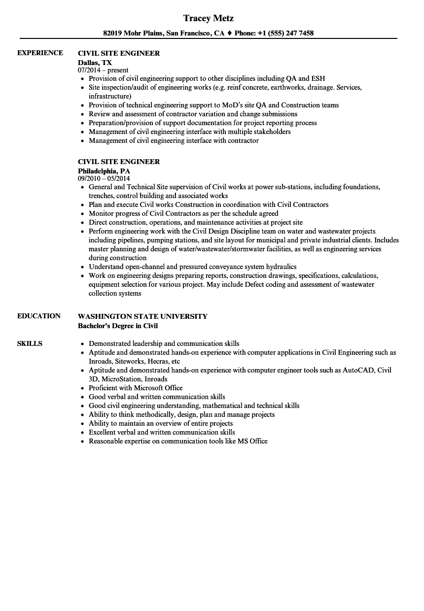 building services engineer resume sample