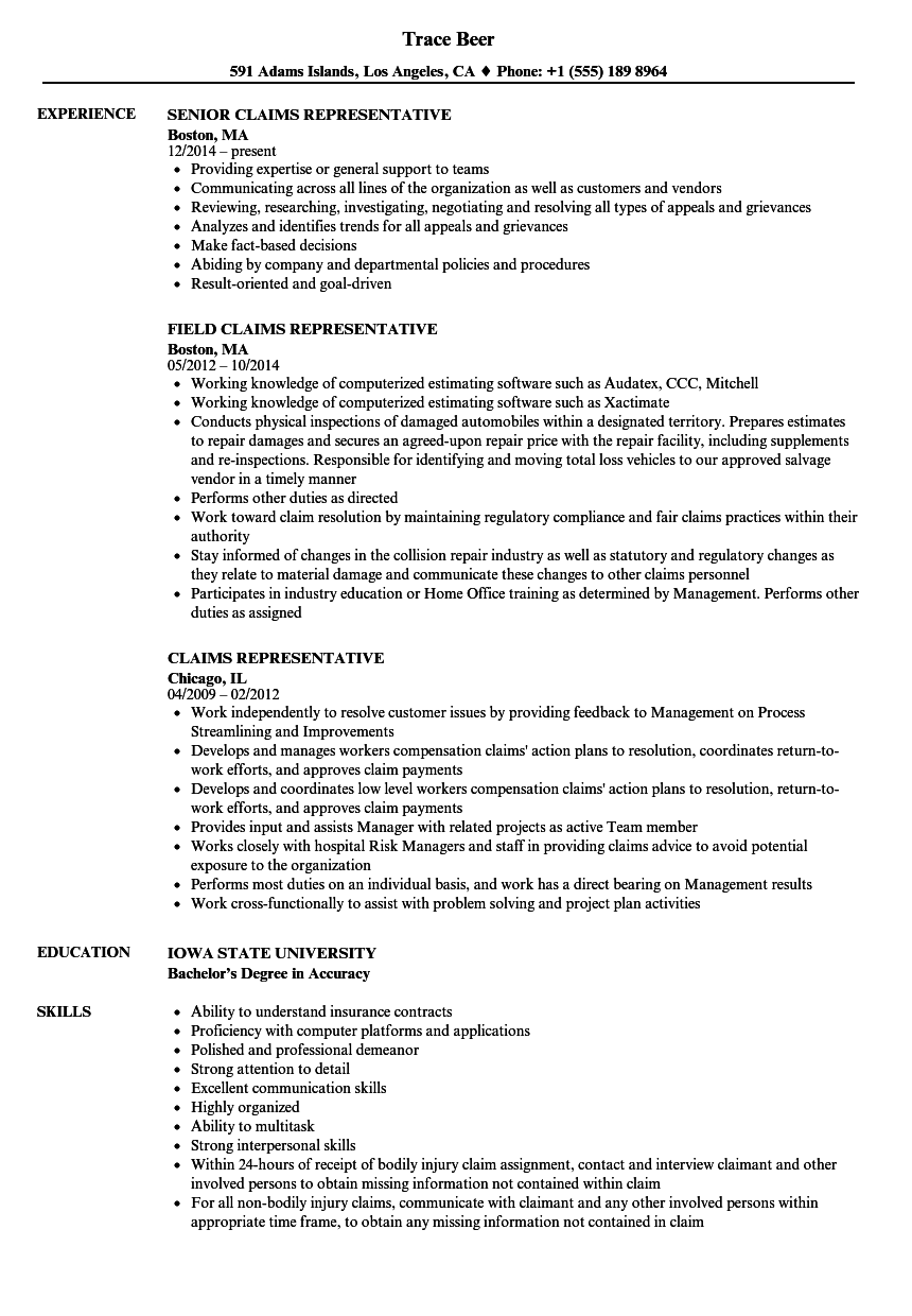 customer service representative sample resume with no experience