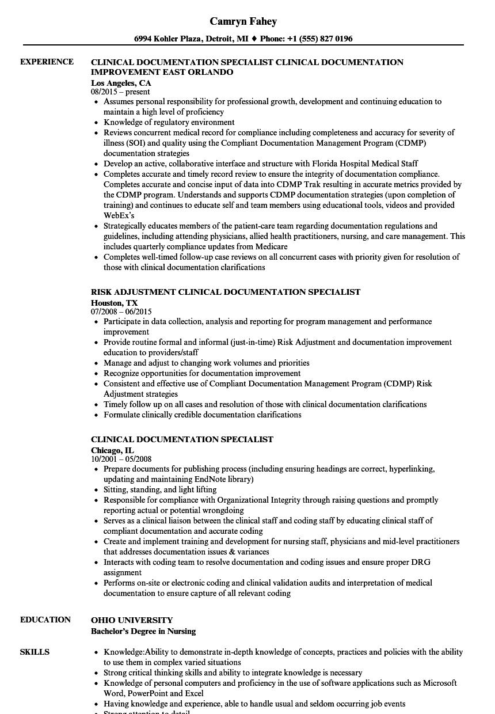 cdi resume sample