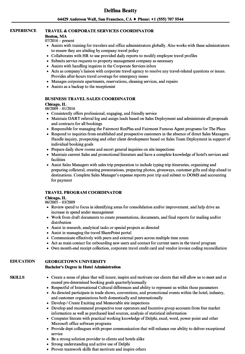 Corporate Travel Consultant Cover Letter