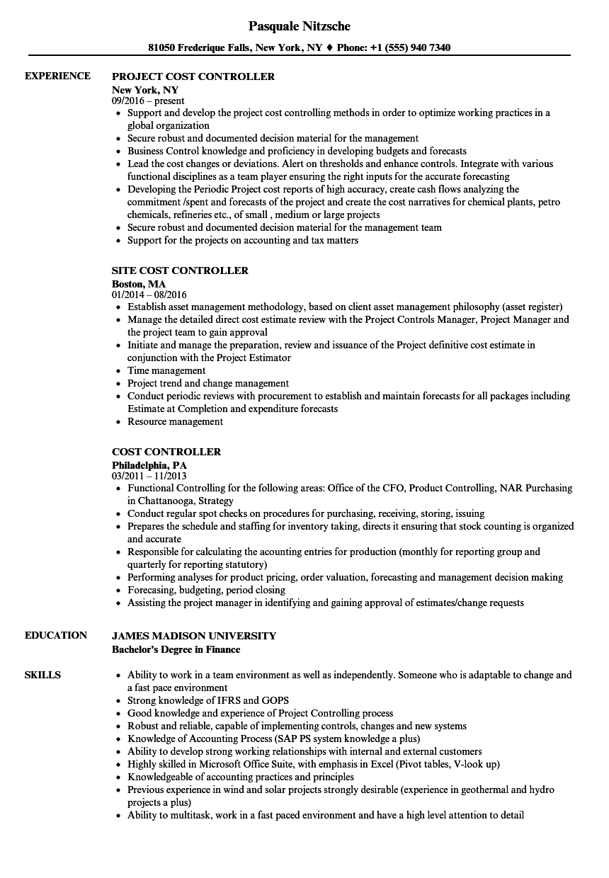 Actual resume examples