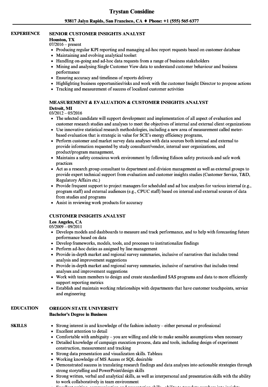 resume examples for support analyst