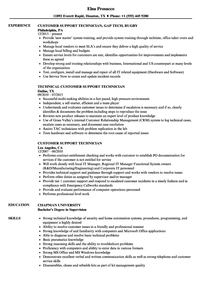 Desktop Support Technician Resume Resume Sample