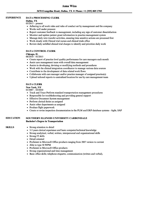 Clerical Office Resume Skills ] | Office Clerk Resume Skills, Office ...