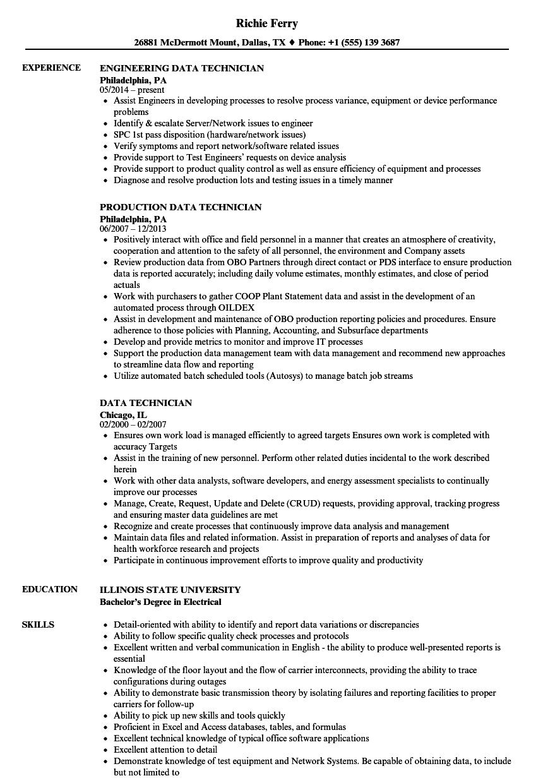 data center resume sample