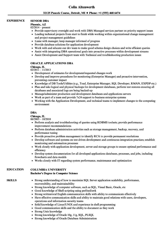 dr resume sample