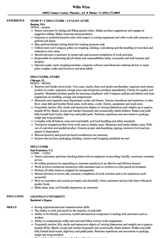 Produce Clerk Resume - Arch-times.com