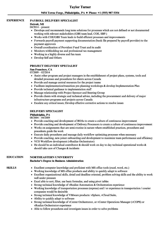 sample retail specialist resume
