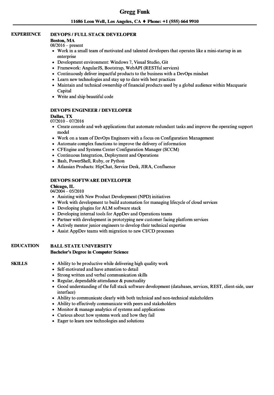 resume aws sample