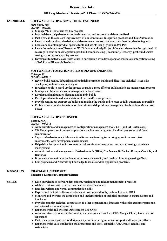 sample senior devops engineer resume