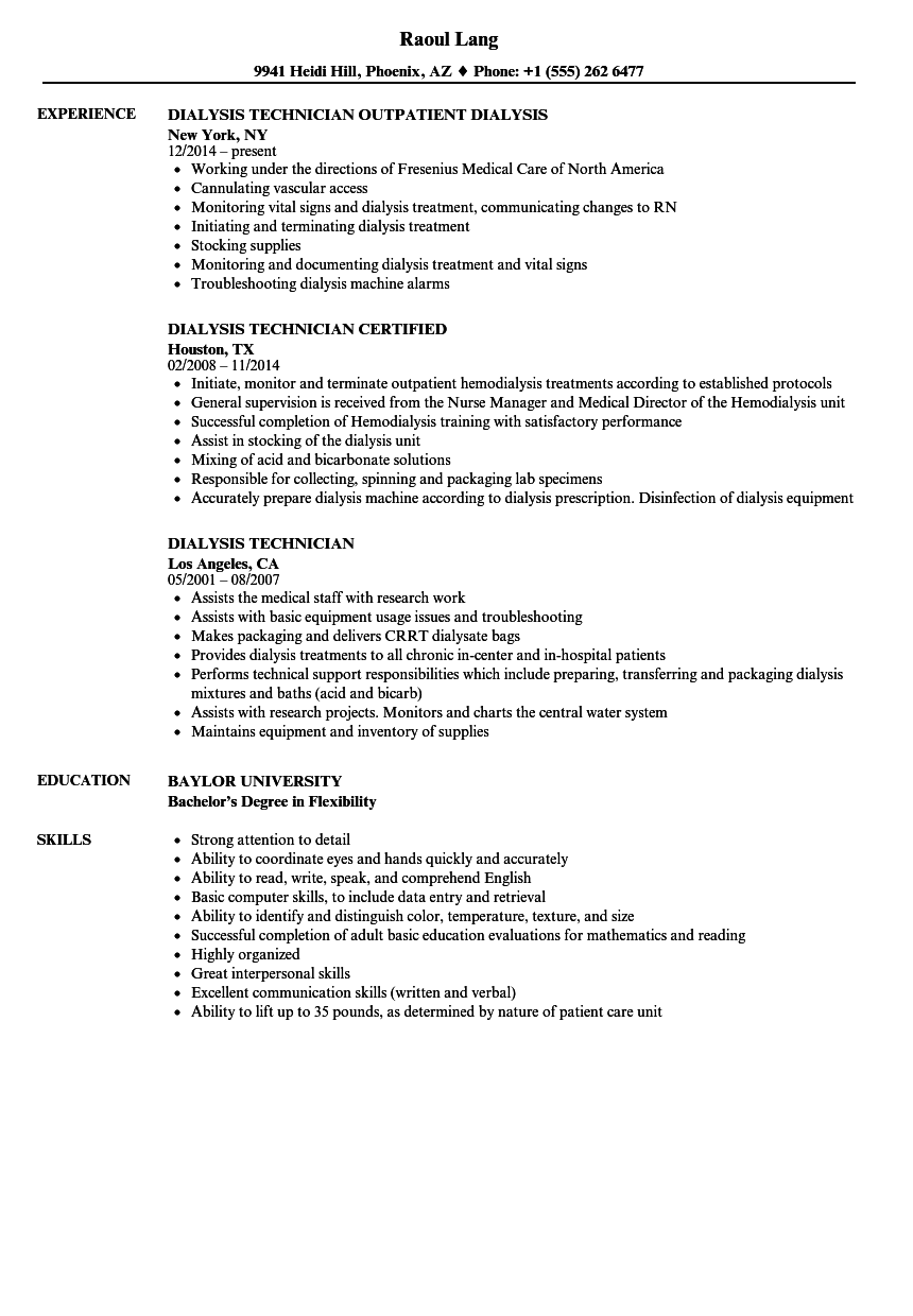 resume objective examples for patient care technician