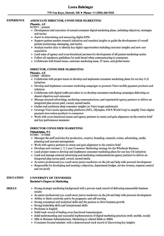 associate creative director resume sample