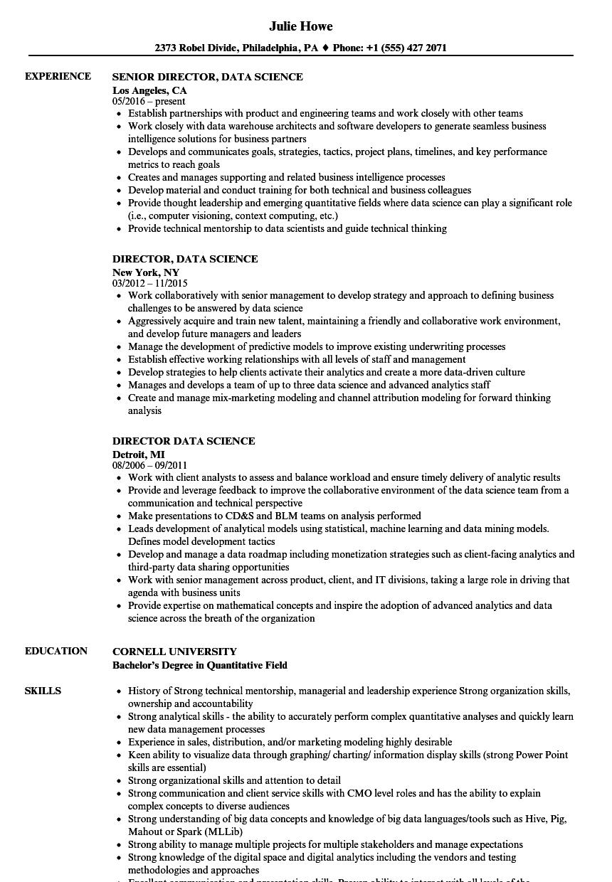 resume skills computer science