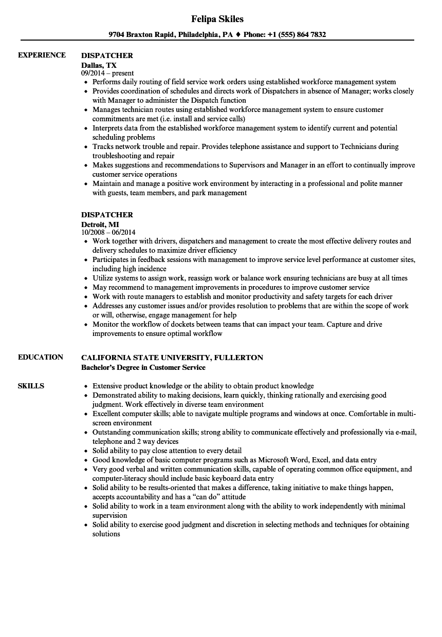 sample resume for entry level cad operator