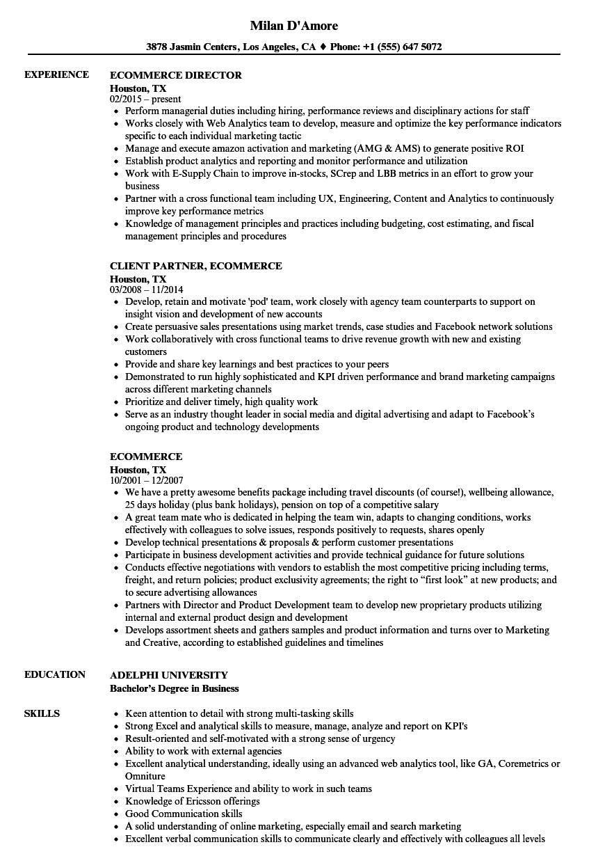 job specific resume samples
