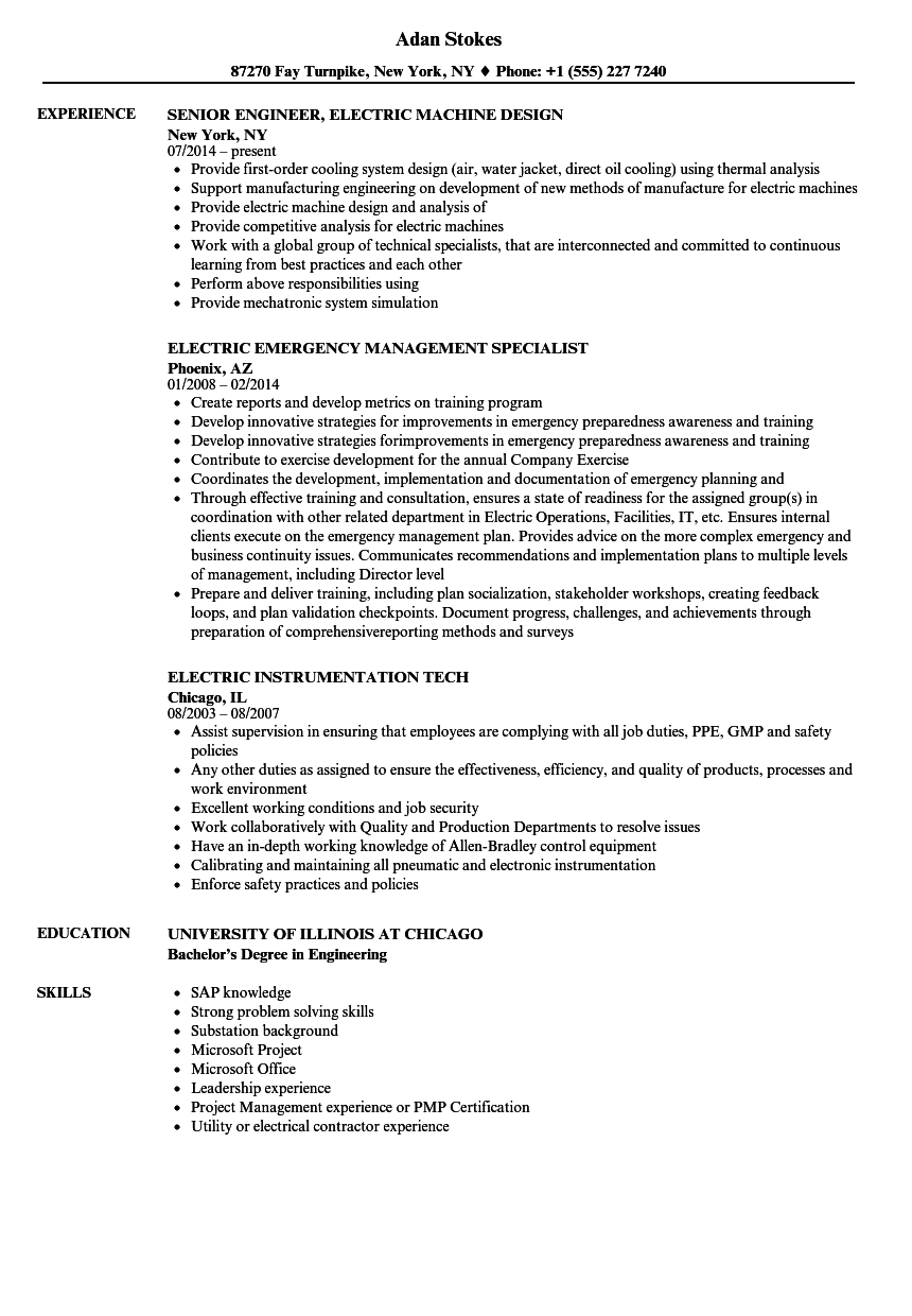 For Cable Installer Resume Examples
