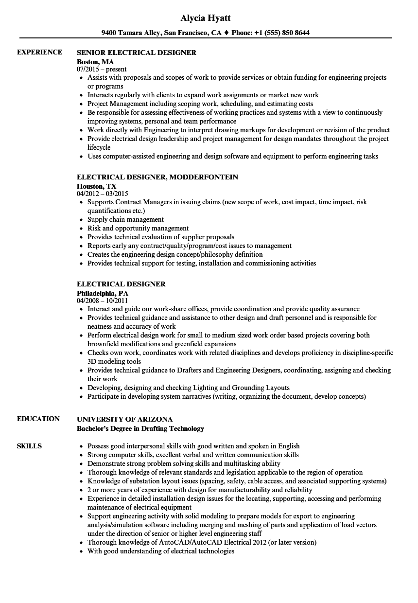 Electrician Resume Objective | Experience Resumes