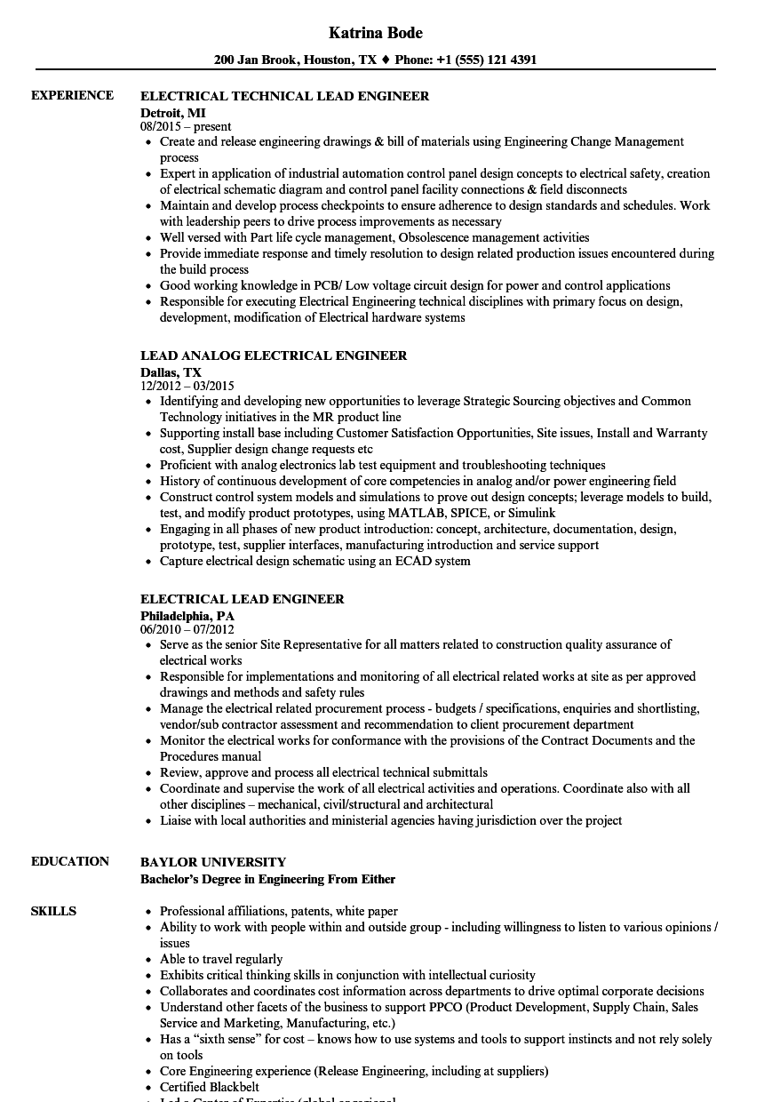 Styles Engineering Internship Resume Template Electrical …