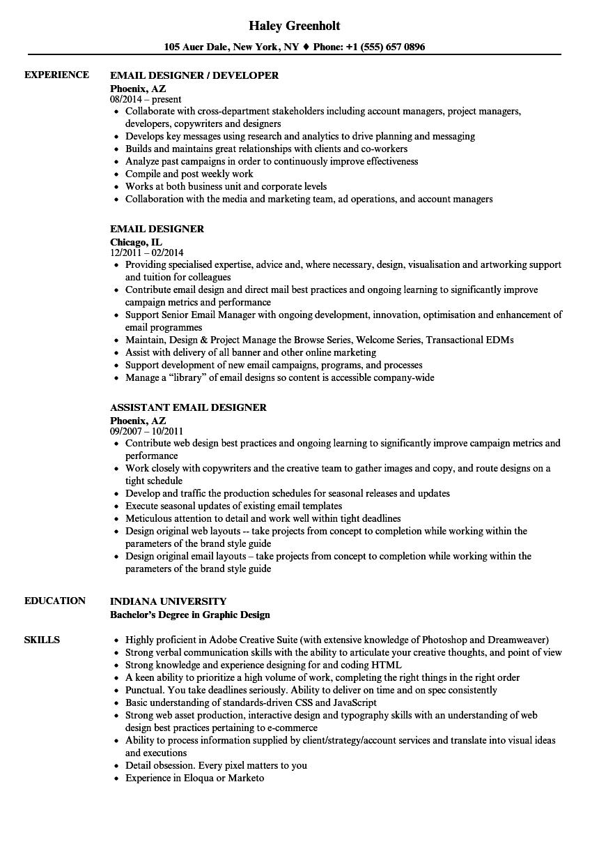 email designer resume