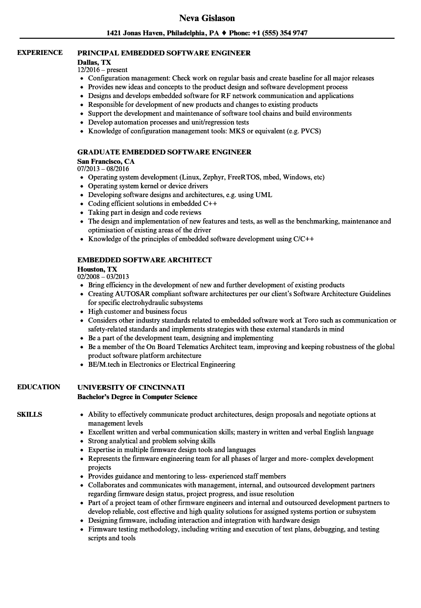 software development resume examples