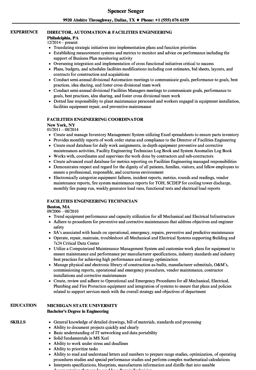engineering coordinator resume sample