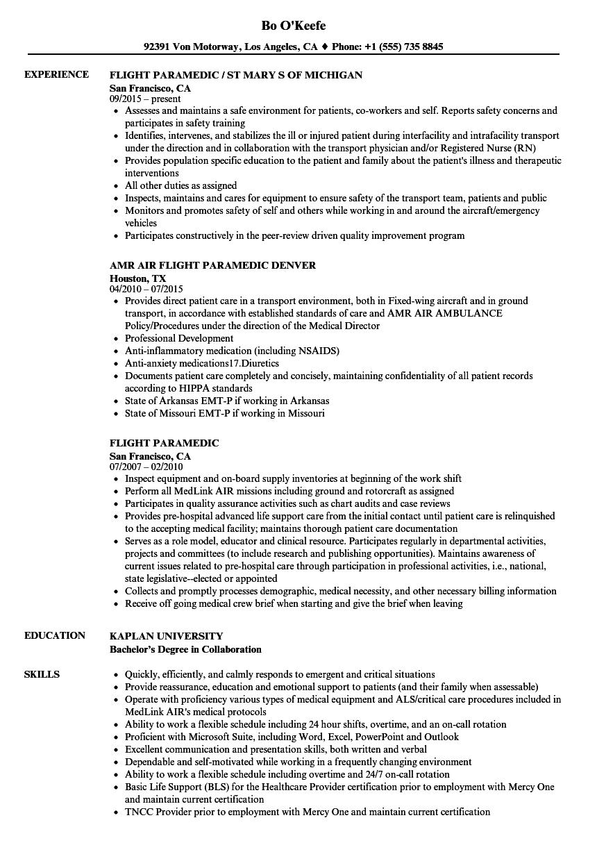 new emt resume template