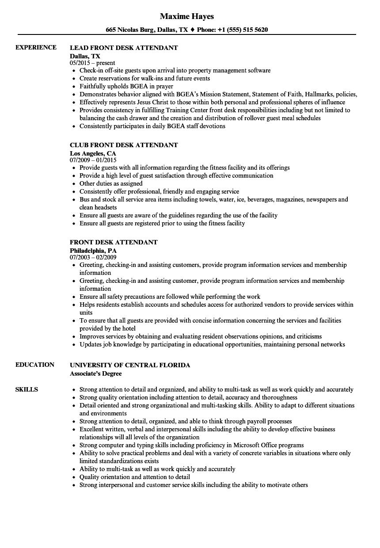 Related Job Titles. Front Desk Administrator Resume Sample