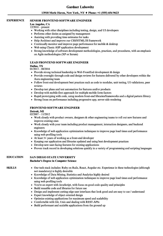 resume sample sap