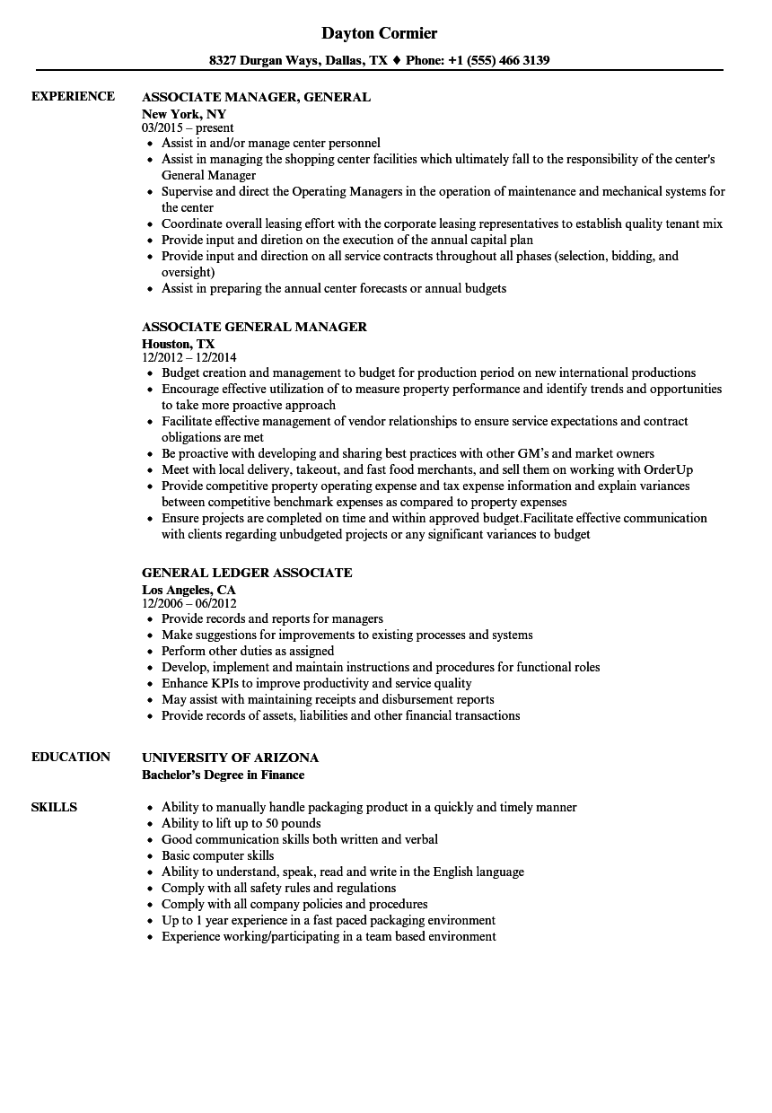 associate degree in marketing on resume examples