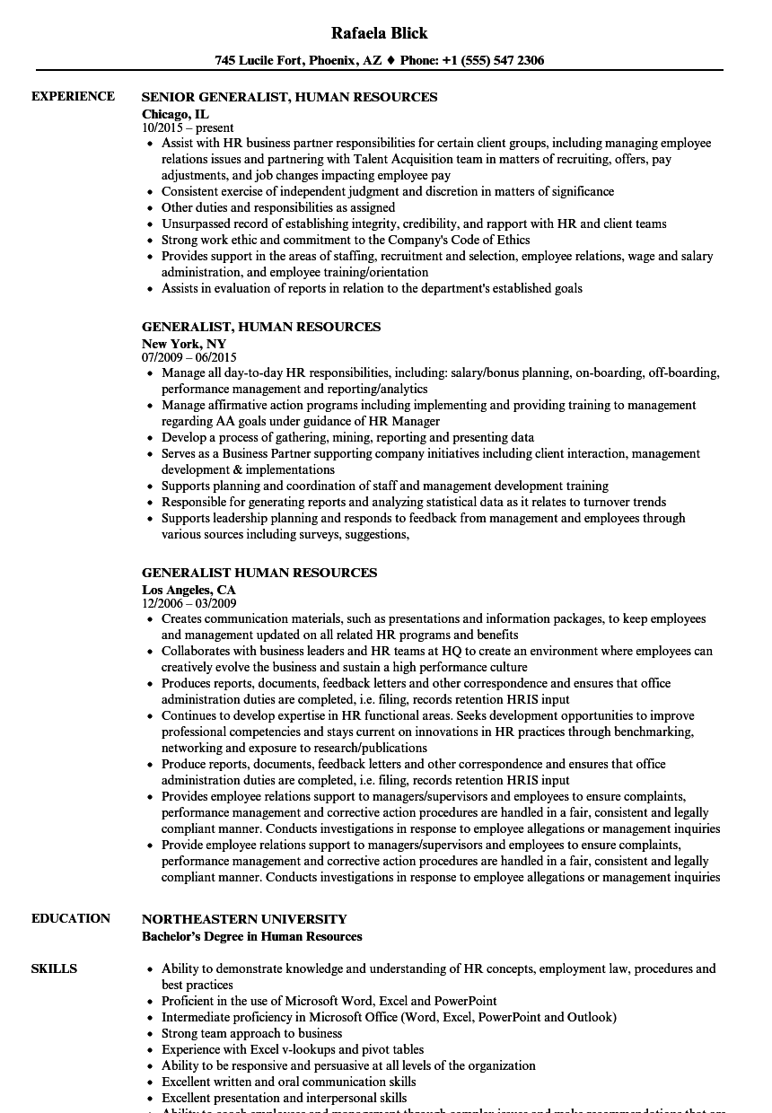 resume sample for human resources coordinator